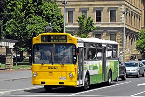 Bus routes and public bus services are a great help to me as I walk along the Derwent River