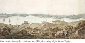 James Taylor Panoramic-view-of-Port-Jackson-c1821