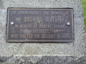 Browns River plaque