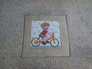 Street mosaic in pavement