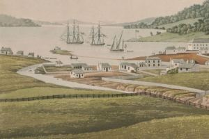 George Evans South west view of Hobart town