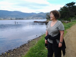Helen at Otago Bay 2014