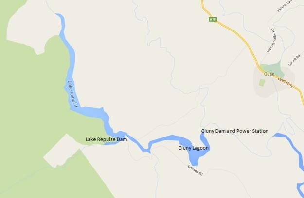 Lake Repulse Map